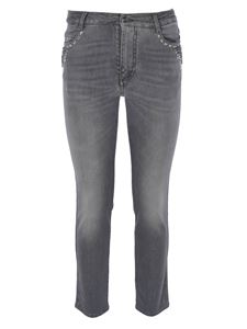 Ermanno Scervino - Jeans in grey with rhinestones
