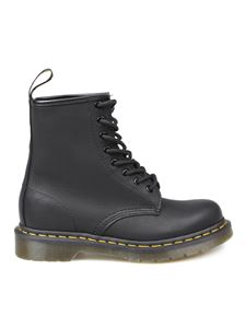 Dr. Martens - Greasy combat boots in black