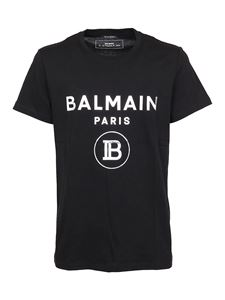 Balmain - Flock logo T-shirt in black