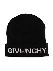 Givenchy - Black beanie with logo