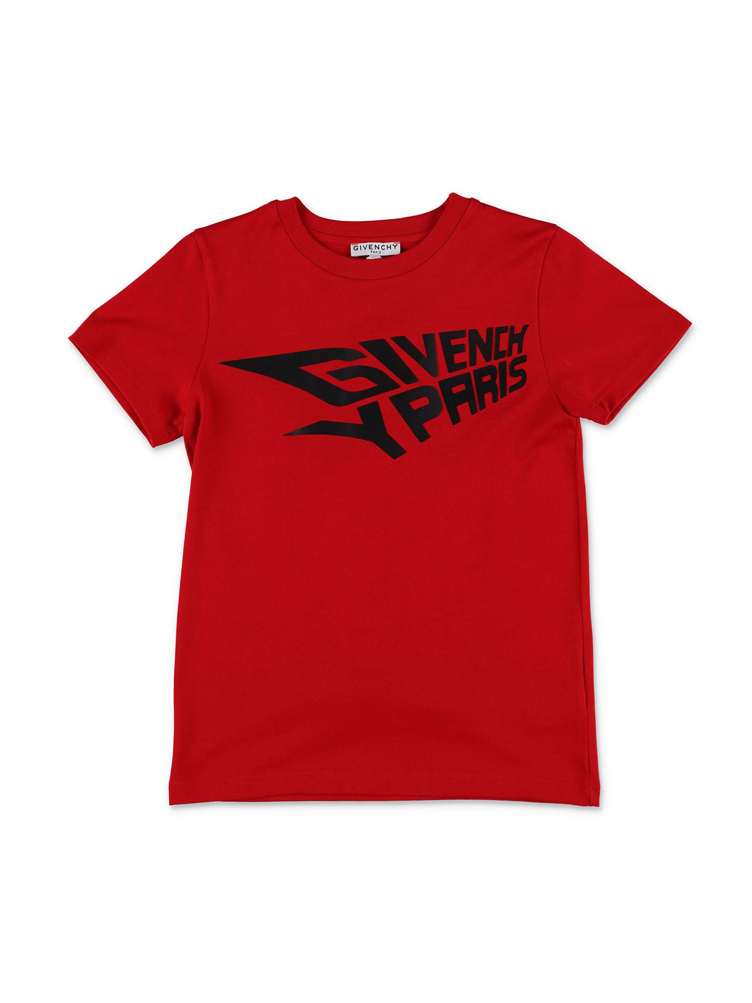 Givenchy RED T-SHIRT WITH LOGO PRINT