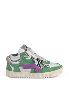 Off-White - Off Court Low sneakers in green suede