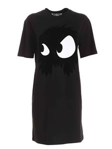 McQ Alexander Mcqueen - Mad Chester Slouchy print dress in black