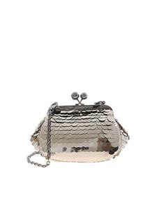Max Mara Weekend - Pasticcino bag in silver color featuring sequins