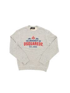 Dsquared2 - Felpa grigia stampa The University Of Dsquared2