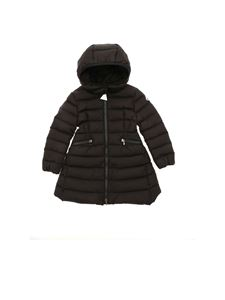 Moncler Jr - Charpal black down jacket featuring removable hood