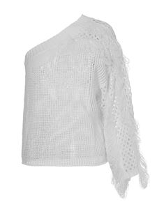 Genny - Drilled knit in white