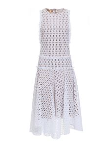 Genny - Drilled dress in white