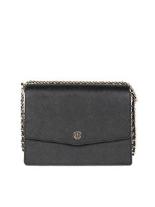 Tory Burch - Robinson leather shoulder bag in black