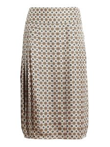 Tory Burch - Carmine pleated silk skirt in cream color