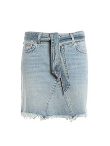 Givenchy - Denim mini skirt in light blue