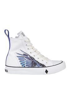Marcelo Burlon County Of Milan - Sneakers alte Wings in cotone bianche