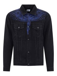 Marcelo Burlon County Of Milan - Pictorial Wings denim jacket in black