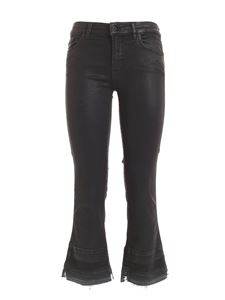 7 For All Mankind - Cropped Boot Unrolled pants in black