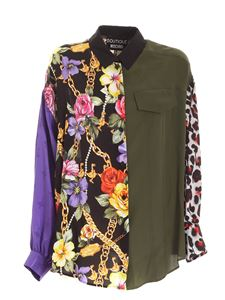 Moschino Boutique - Multicolor floral and animalier print shirt