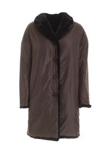 Aspesi - Panna reversible coat in black and dove grey color