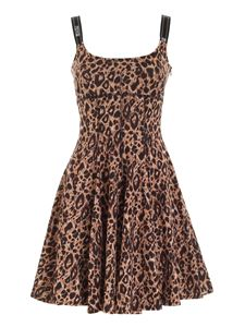 Versace Jeans Couture - Animalier dress in shades of brown and black