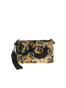 Versace Jeans Couture - Logo print clutch bag in black