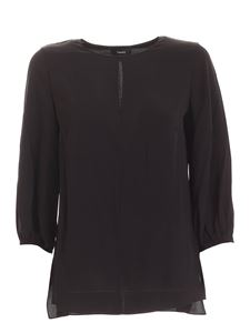 Theory - Volume blouse in black