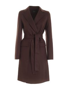 Theory - Luxe New Divide coat in brown
