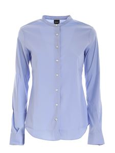 Aspesi - Mandarin collar shirt in light blue