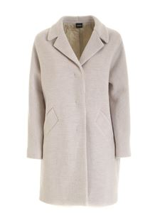 Aspesi - Notch lapels coat in white