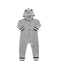 Moncler Jr - Grey romper suit featuring  hood