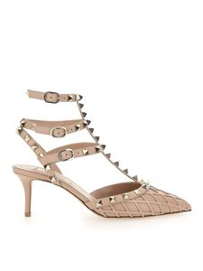 Valentino - Rockstud sandals in nude color