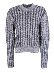 Chloé - Cable-knit crewneck sweater in Sweet Navy