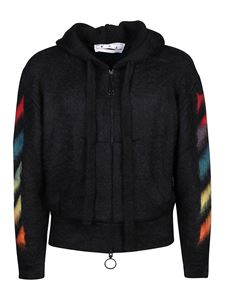 Off-White - Multicoloured Arrow logo sweatshirt in black