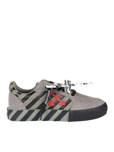Off-White - Low Vulcanized sneakers in grey and green