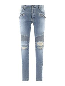 Balmain - Ripped jeans in light blue