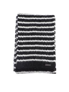Saint Laurent - Striped scarf in black and white