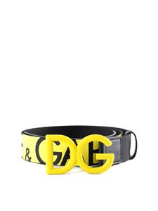 Dolce & Gabbana - DG fabric belt in yellow and black