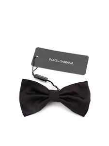 Dolce & Gabbana - Silk bow tie in black