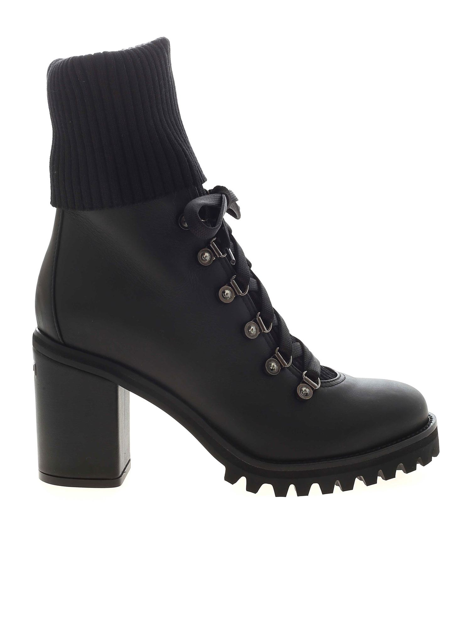 Le Silla ST. MORITZ BLACK ANKLE BOOTS FEATURING HEEL