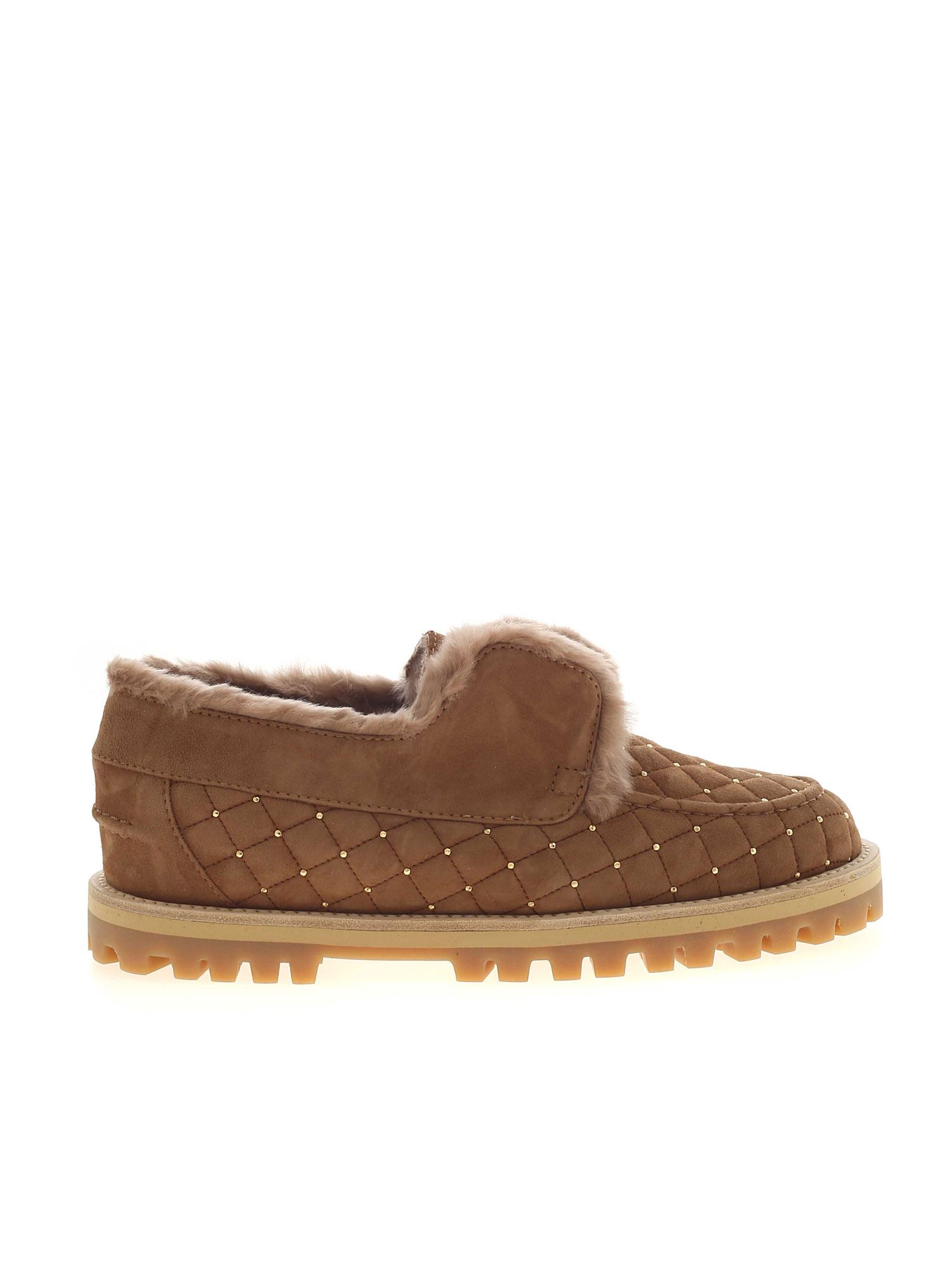 Le Silla YACHT BROWN LOAFERS FEATURING MINI STUDS