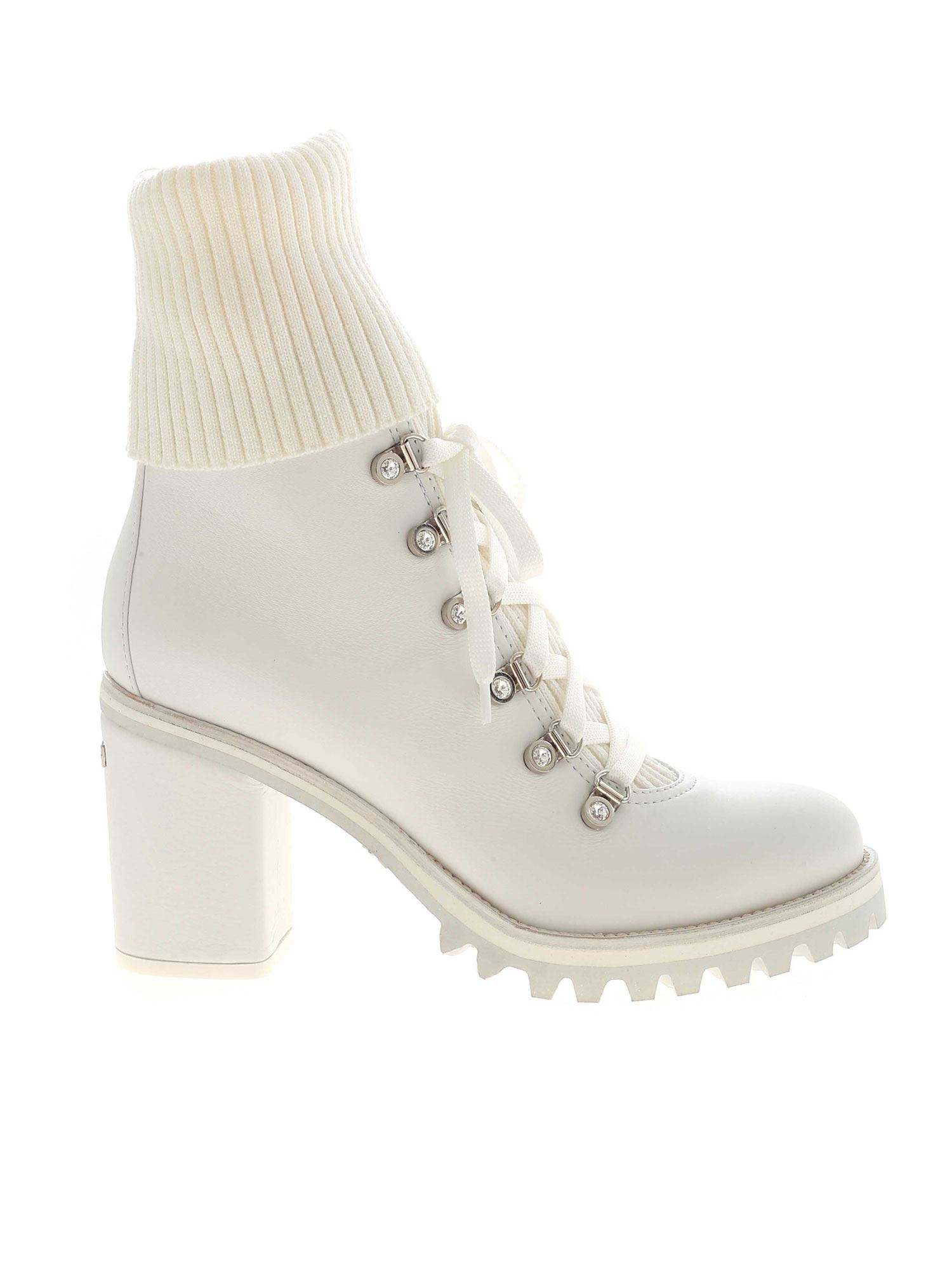 Le Silla ST. MORITZ WHITE ANKLE BOOTS FEATURING HEEL