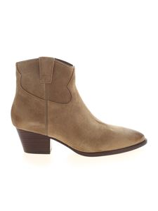 Ash - Houston pointed ankle boots in beige