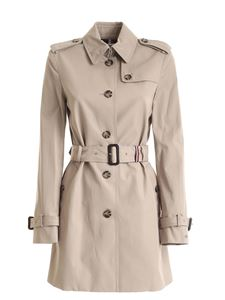 Tommy Hilfiger - Heritage trench coat in dove grey color with logo