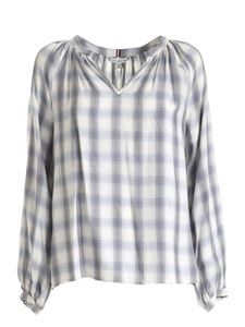 Tommy Hilfiger - Shira check Pop blouse in white
