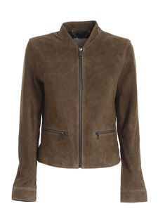 Tommy Hilfiger - Nadia suede jacket in Army green