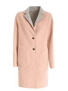 Tommy Hilfiger - Alison single-breasted reversible coat in pink