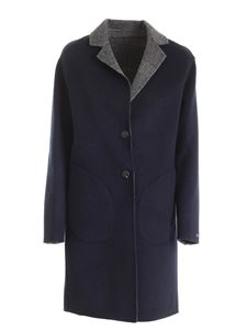 Tommy Hilfiger - Alison single-breasted reversible coat in blue