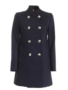 Tommy Hilfiger - Nichelle double-breasted coat in blue