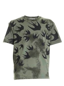 McQ Alexander Mcqueen - All-over Swallow print T-shirt in green
