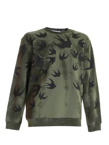 McQ Alexander Mcqueen - Swallow sweatshirt in green