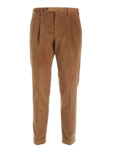 PT01 - Corduroy pants in hazelnut color