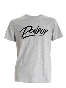 Dondup - Flock logo T-shirt in melange grey