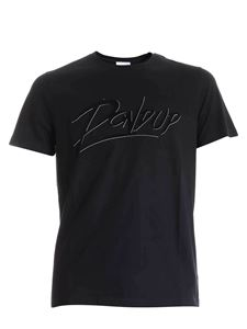 Dondup - Flock logo T-shirt in black